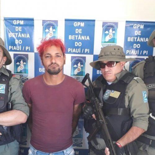 Polícia prende homem suspeito de furtos em Betânia do Piauí