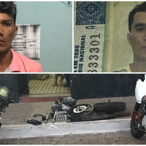 Homens são presos com motocicletas roubadas em Jacobina do Piauí