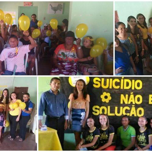 Campanha Setembro Amarelo promove palestras para orientar sobre prevenção ao suicídio em Vera Mendes