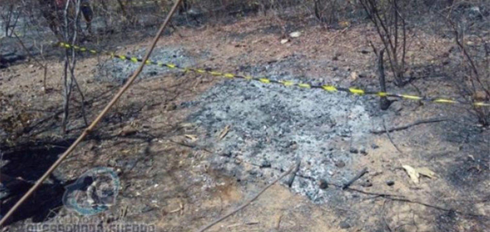 Corpos são encontrados carbonizados em matagal de cidade no Sul do Piauí