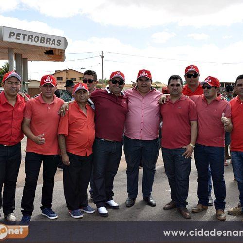 Prefeito Márcio e comitiva prestigiam visita de Lula ao Complexo Eólico Chapada do Piauí em Marcolândia