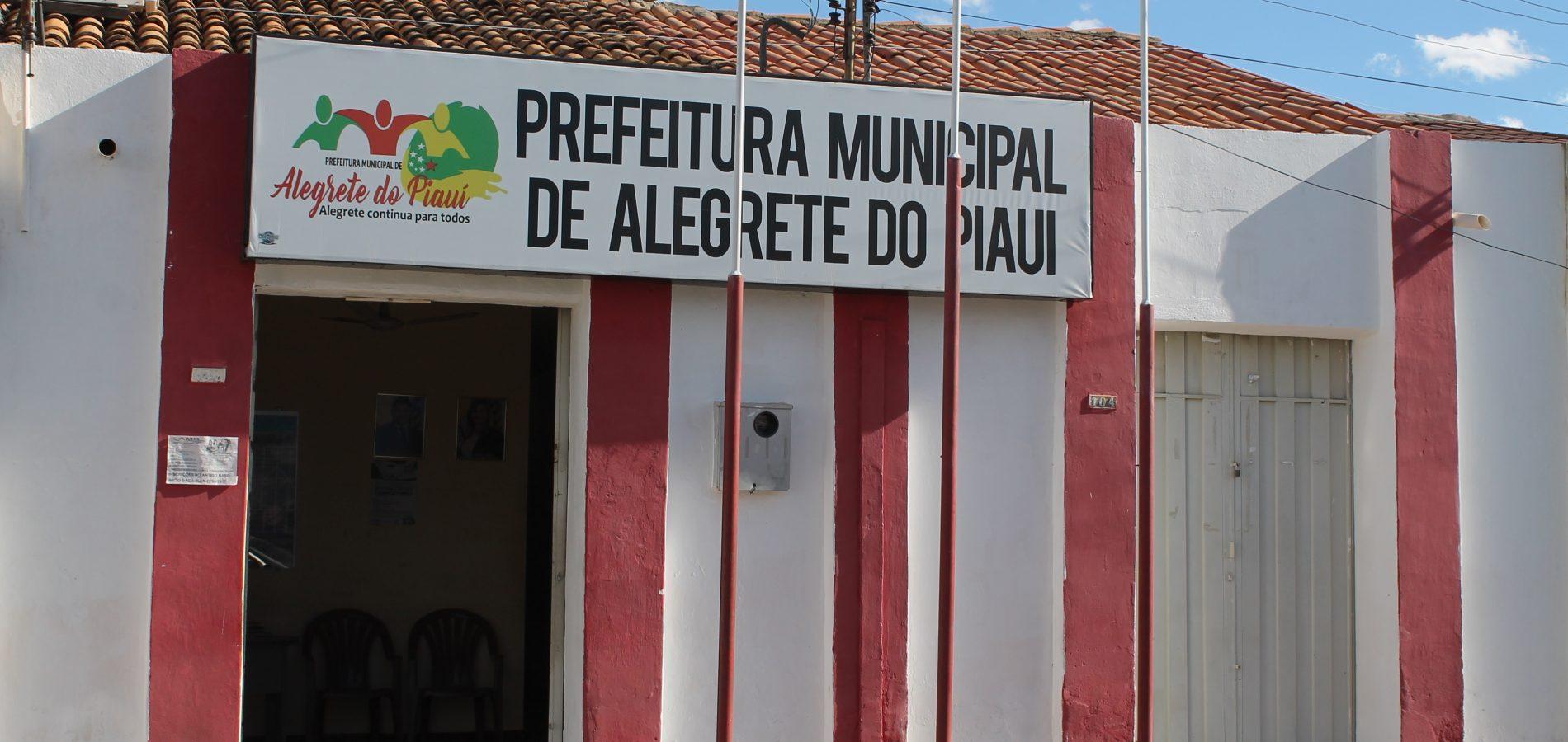 Prefeitura de Alegrete do Piauí suspende concurso público para 92 vagas