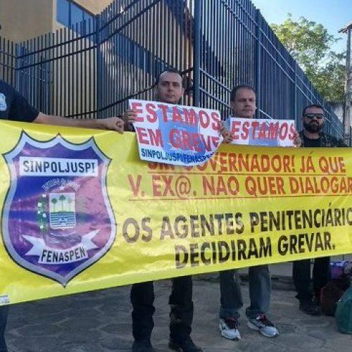 Sinpoljuspi anuncia nova greve dos agentes penitenciários do Piauí