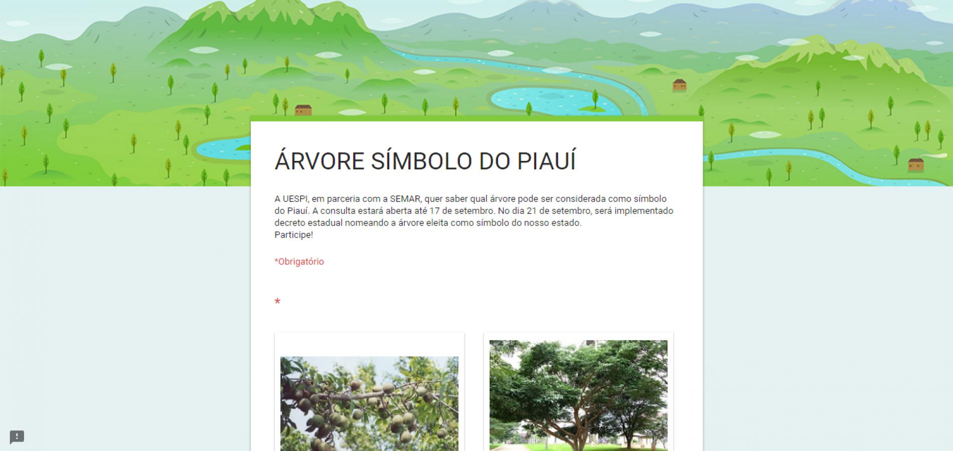 Uespi e Semar realizam consulta para escolher árvore símbolo do Piauí