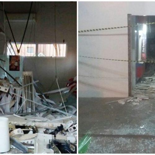 Bandidos armados explodem caixa eletrônico na Prefeitura de Picos