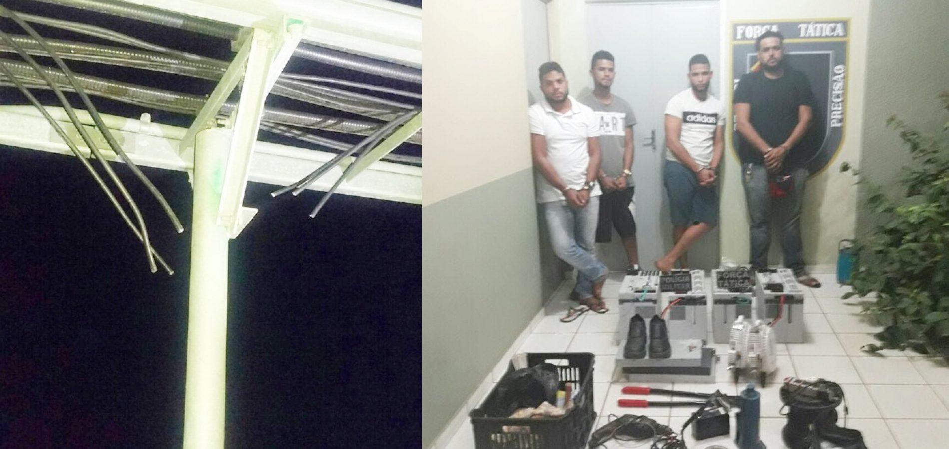 Bando é preso após furtos em Padre Marcos, Alegrete, Alagoinha, Jacobina e Geminiano