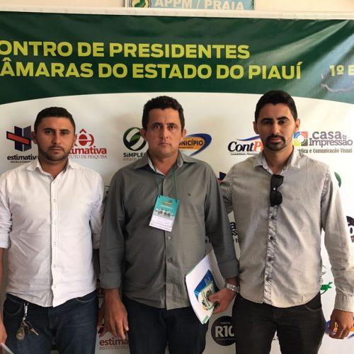 Vereadores de Vila Nova participam do I Encontro de Presidentes de Câmaras do Piauí