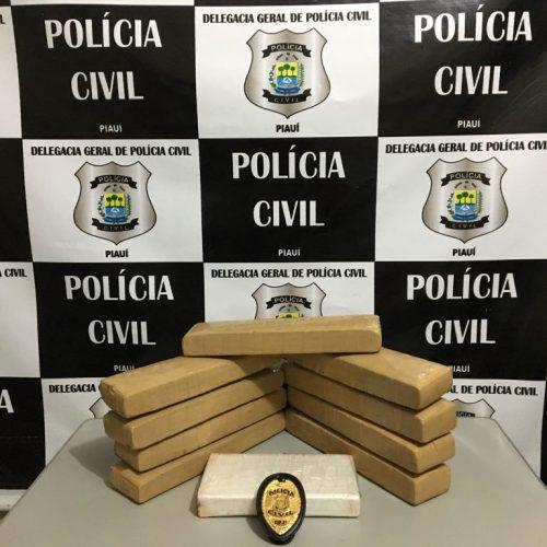 Polícia Civil apreende droga dentro de ônibus avaliada em R$ 50 mil
