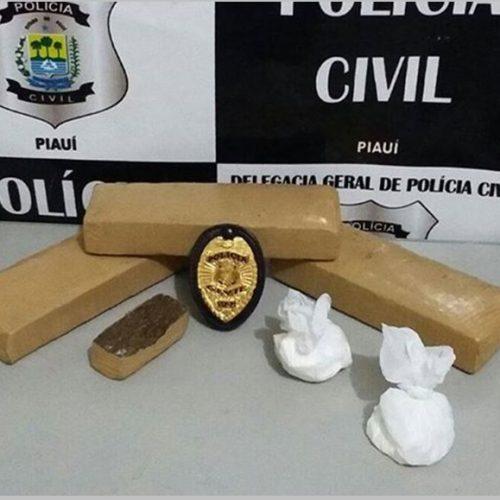 Homem faz manobras perigosas perto de viatura e acaba preso com maconha e cocaína em Picos