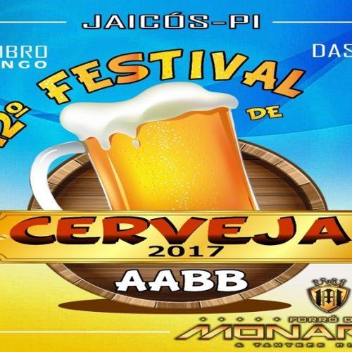 12º Festival de Cerveja da AABB de Jaicós acontece no domingo (17)