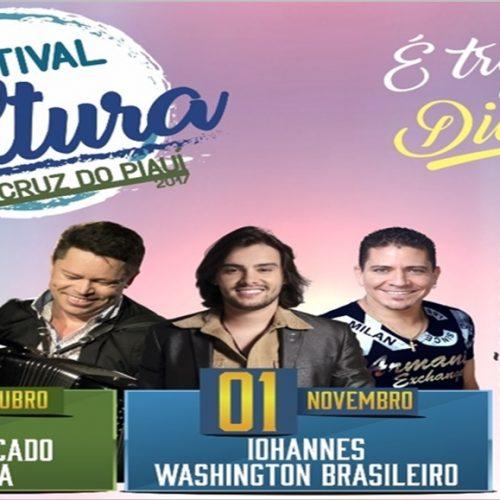 Festejos de Santa Cruz do Piauí terá 'Festival da Cultura' com grandes atrações