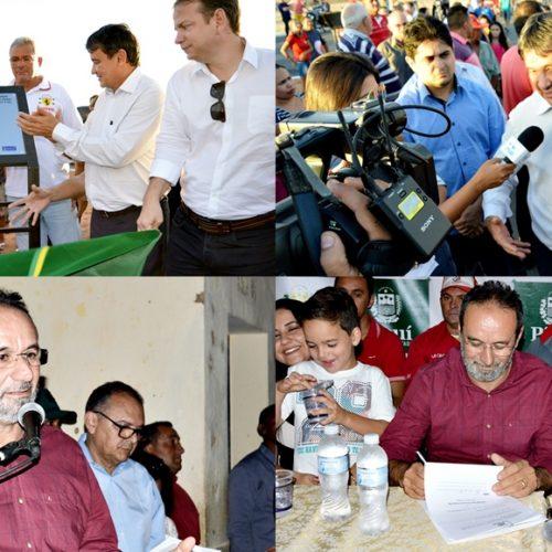 Governador e prefeito inauguram e entregam obras de mobilidade urbana em Alagoinha do Piauí