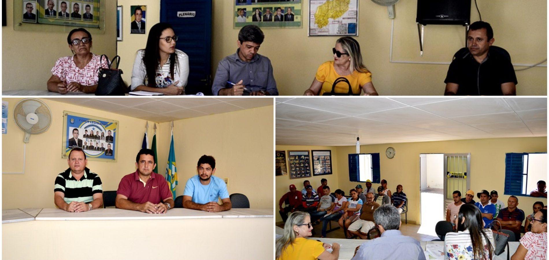 Em Vila Nova, reunião entre Agespisa e a população discute abastecimento de água da adutora de Piaus