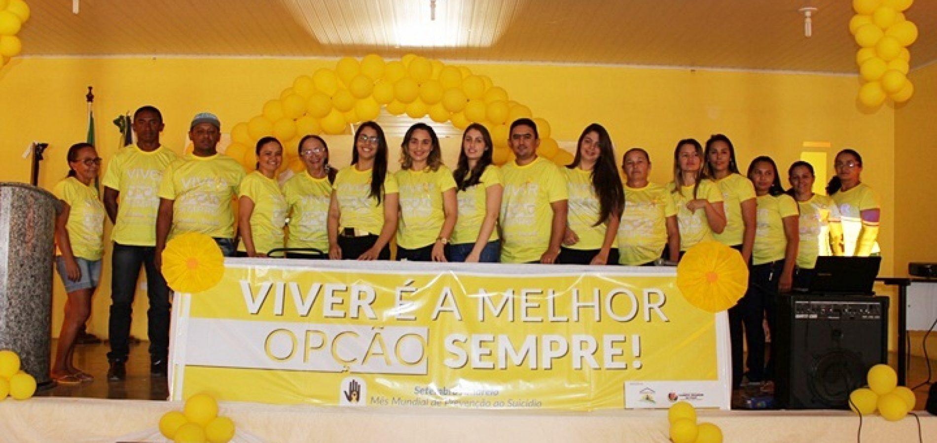 Social de Campo Grande do Piauí realiza culminância da Campanha de prevenção ao suicídio