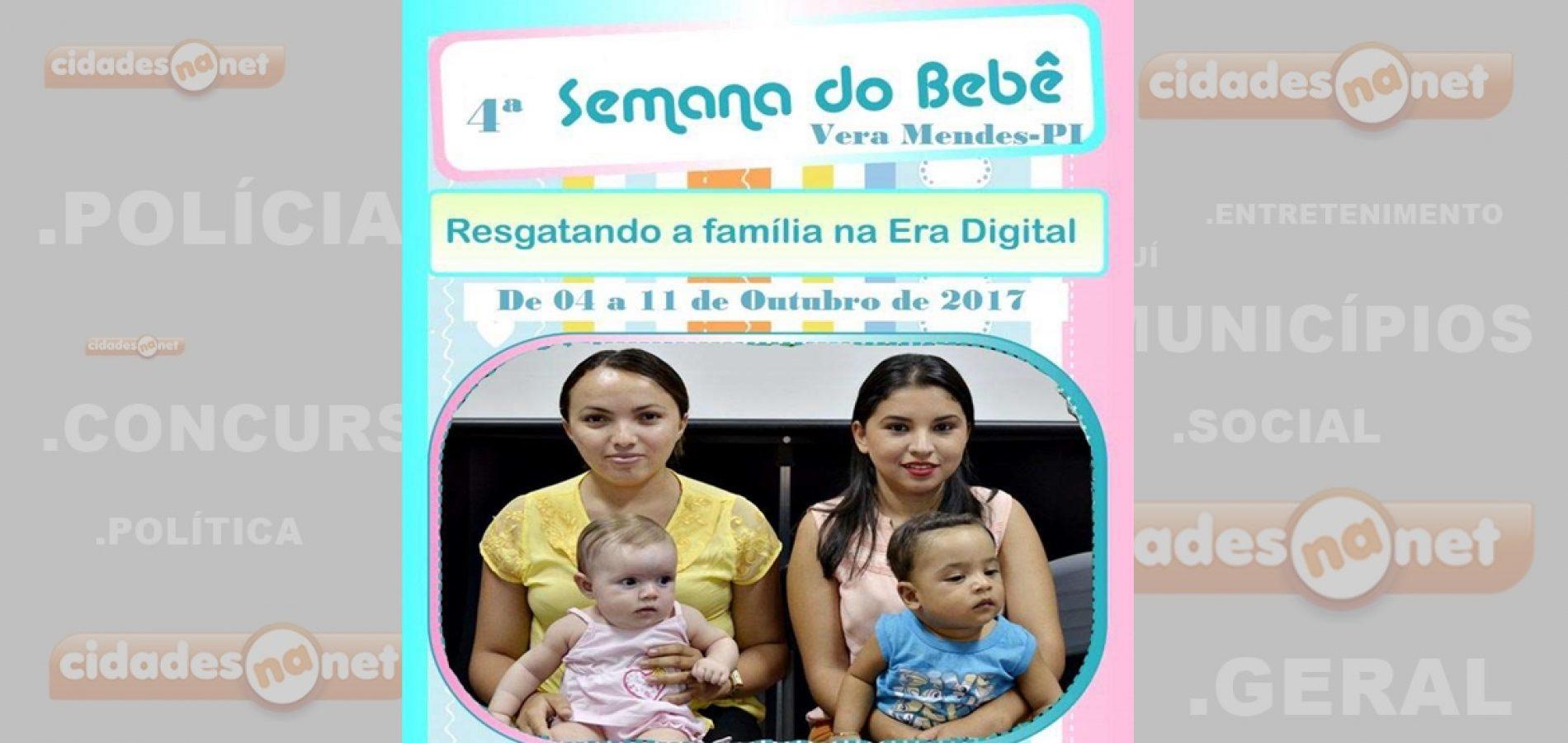 """Com o tema """"Resgatando a família na era digital"""", Vera Mendes vai realizar 4º Semana do Bebê; veja a programação"""