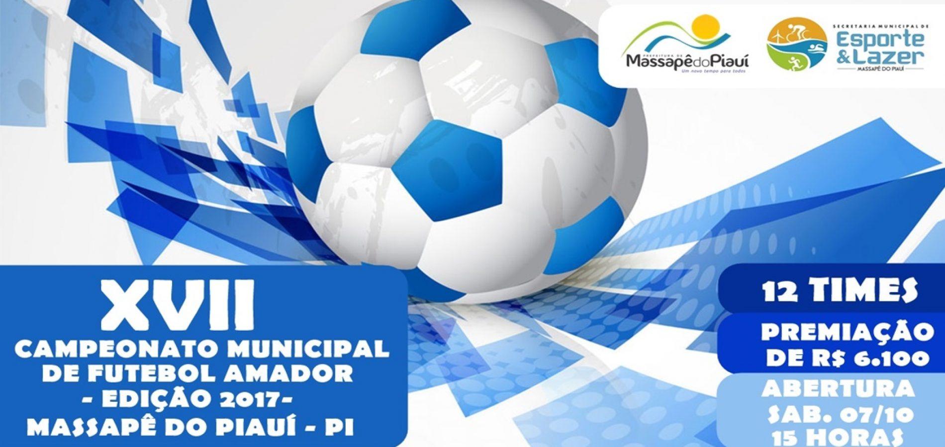 MASSAPÊ | Campeonato Municipal tem início no sábado (7) com 12 times e R$ 6,1 mil em prêmios; veja a tabela