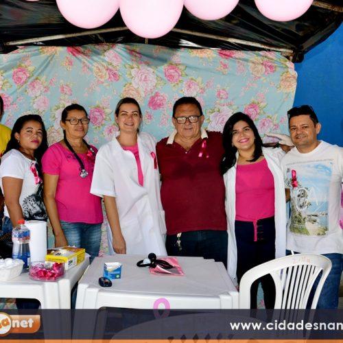 Em Francisco Macedo, Saúde e NASF realizam ações em alusão a campanha 'Outubro Rosa'; veja fotos