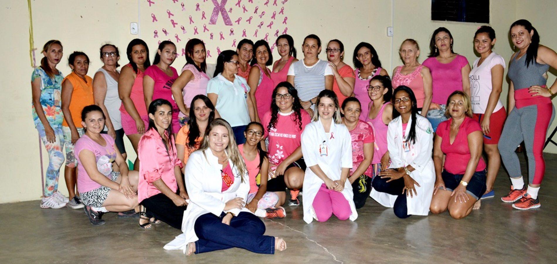 Saúde e NASF promovem ações do 'Outubro Rosa' em Vila Nova do Piauí; veja fotos