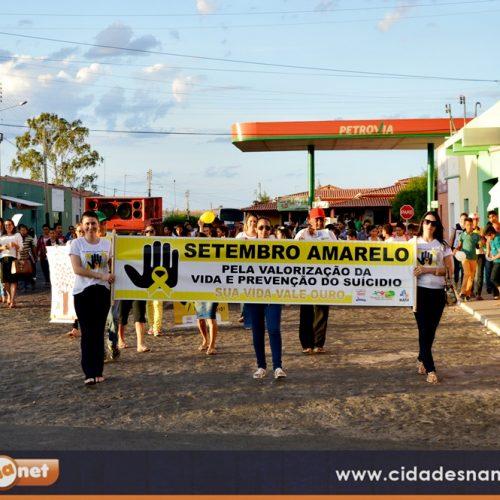 Em Alegrete do Piauí, caminhada chama a atenção para a prevenção ao suicídio e valorização da vida; veja as imagens