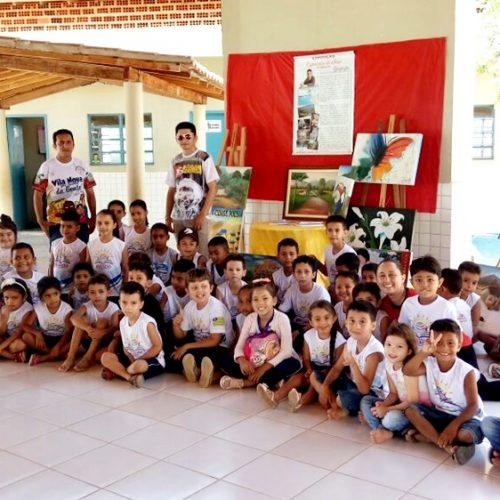 Cultura expõe obras do artista plástico vilanovense Apolônio Leal, na Escola Zacarias Manoel da Silva
