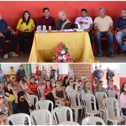 Prefeito de Padre Marcos reúne servidores e mostra situação econômica do município