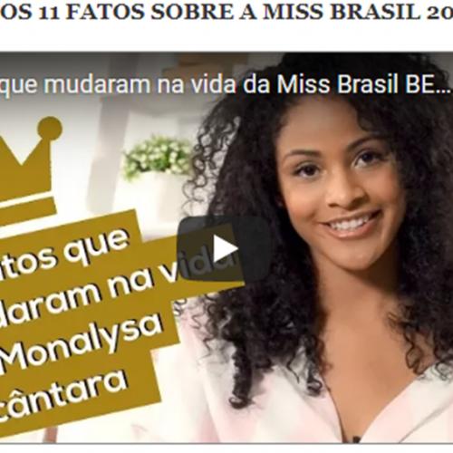 Monalysa Alcântara ganha canal no YouTube: 11 fatos após Miss Brasil 2017