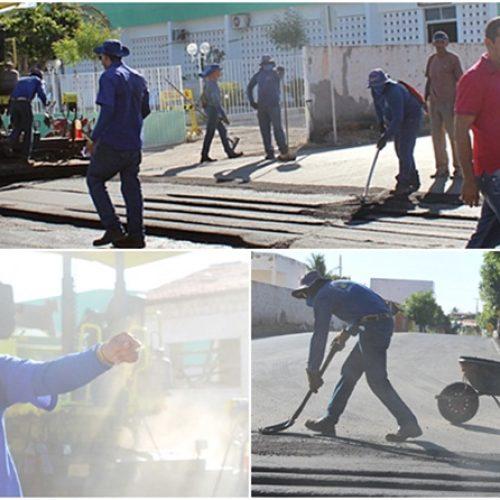 Prefeitura Municipal inicia obras de asfaltamento de avenidas em Jaicós