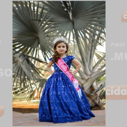 Júlia Medeiros representará Picos no Mini Miss Baby Piauí 2017
