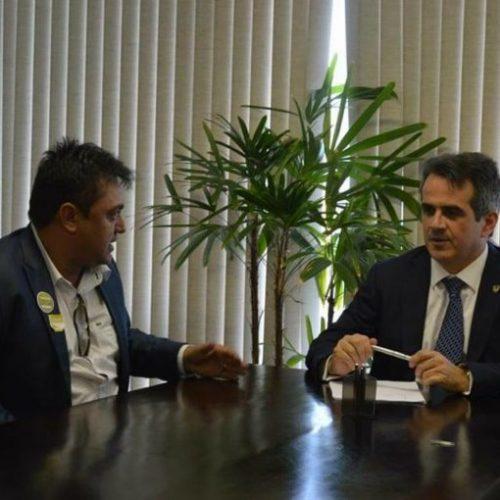 Em Brasília, prefeito Márcio Alencar tem audiência com o senador Ciro Nogueira e busca investimentos para Alegrete do PI