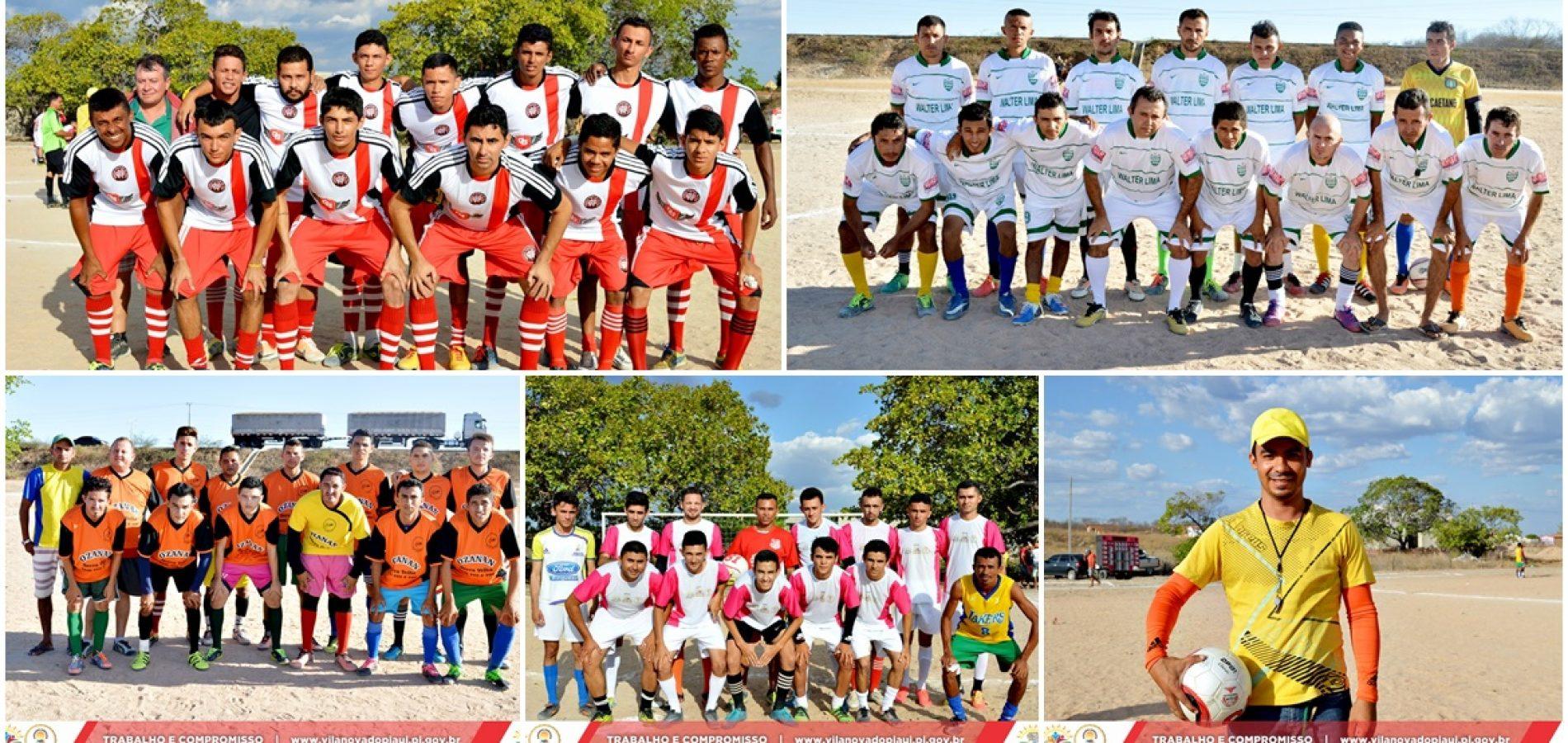 Seis gols marcam jogos do fim de semana pelo 18º Campeonato de Futebol em Vila Nova do PI