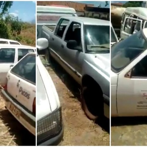 Vereador denuncia Padre Walmir por abandono de veículos da Prefeitura de Picos