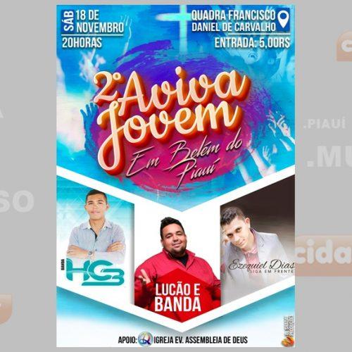 Belém do Piauí sedia o II Aviva Jovem no sábado (18); veja as atrações