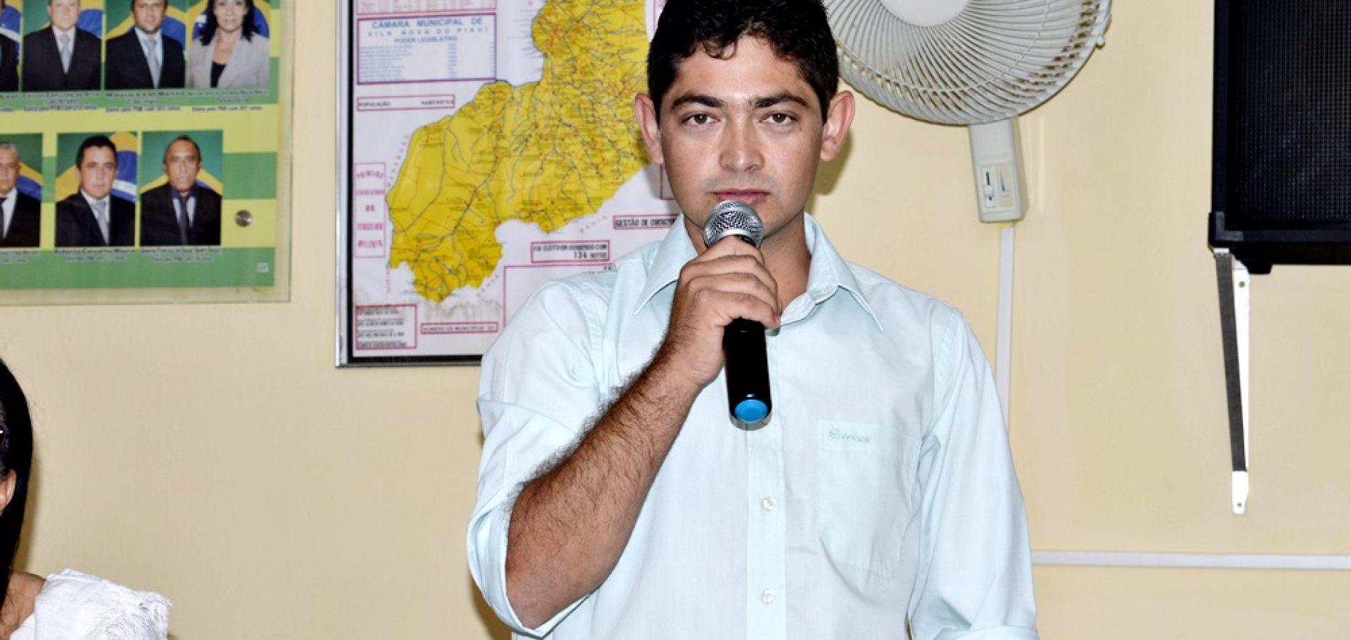 Vereador Deijano Lima requer limpeza da barragem de São João Batista, em Vila Nova do PI