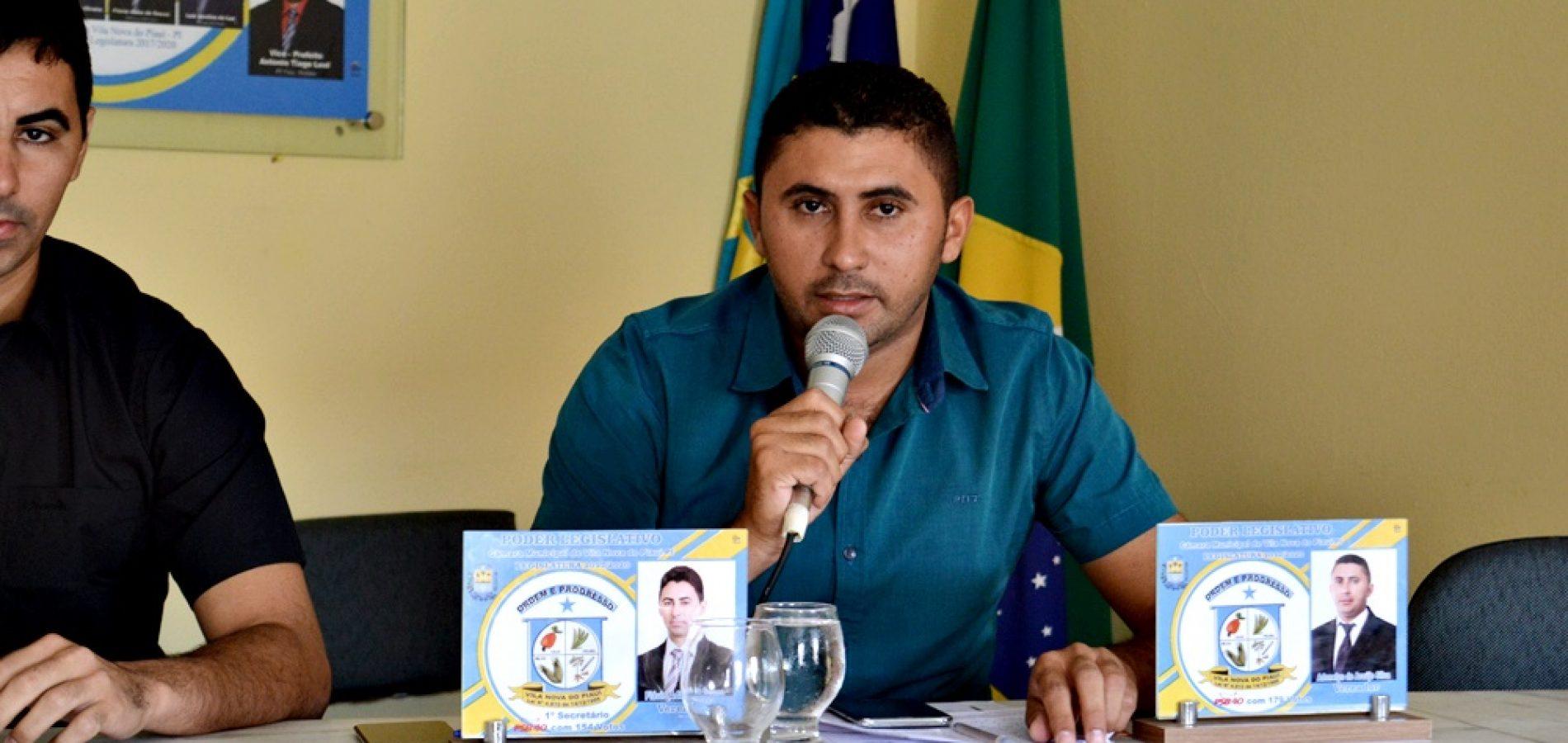 Vereador Adonelys Araújo solicita sinalização de via da PI Jovelino Romão da Silva, na localidade tanquinho