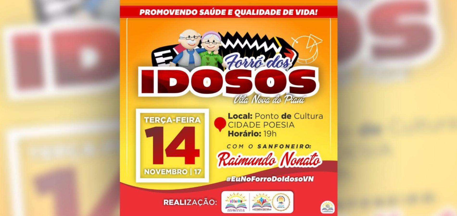 VILA NOVA | Assistência Social anuncia forró dos idosos com o sanfoneiro Raimundo Nonato nesta terça- feira (14)