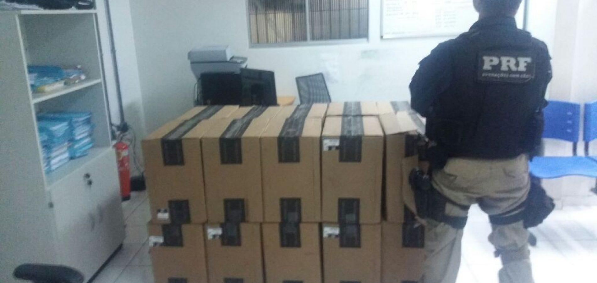 PRF apreende carga com aproximadamente 200 mil cigarros no interior do Piauí