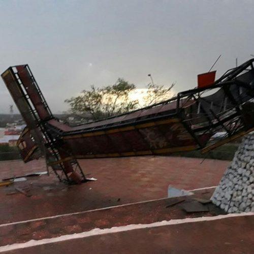 São Raimundo tem chuva de granizo e queda de Cruzeiro; assista vídeo