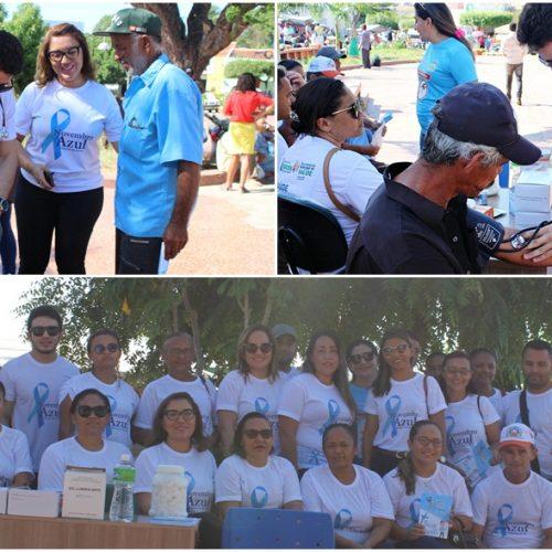 Secretaria de Saúde realiza ações voltadas à saúde do homem na feira livre de Jaicós