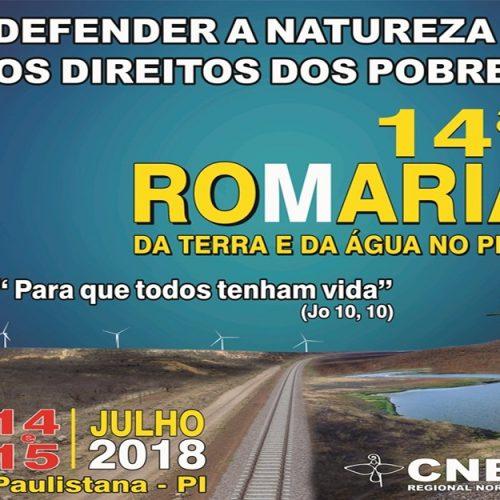 14ª Romaria da Terra e da Água no Piauí será lançada nesta sexta (01) em Paulistana