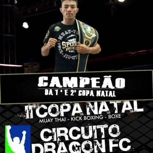 Jovem de Alegrete do Piauí é campeão da Copa Natal de Muay Thai; assista o nocaute final