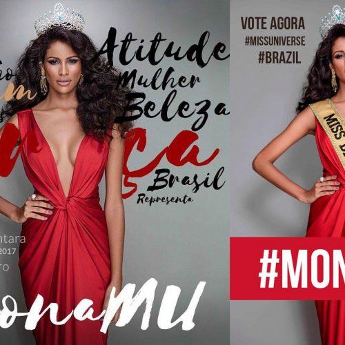 Miss Universo 2017 será transmitido pela TNT; Vote na Miss Brasil Monalysa Alcântara