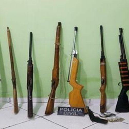 Polícia desmancha oficina clandestina de armas em Pio IX