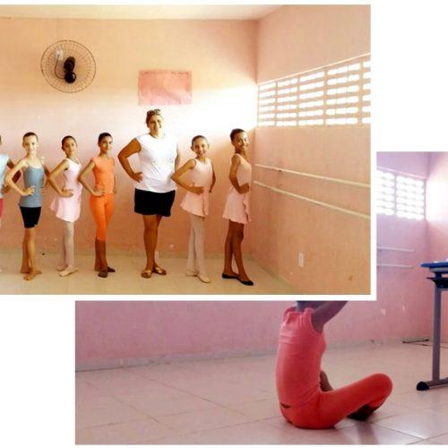 Em Alegrete, monitora de Ballet encerra atividades da oficina do NME na escola Tertuliano S. Leal com avaliação prática