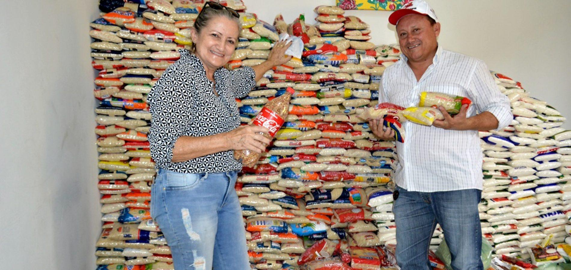 Prefeitura arrecada quatro toneladas de alimentos e distribui para famílias vilanovenses