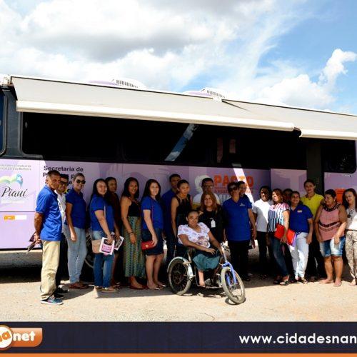 Em Francisco Macedo, gestão de Nonato oferece serviços para as mulheres através do Ônibus Lilás