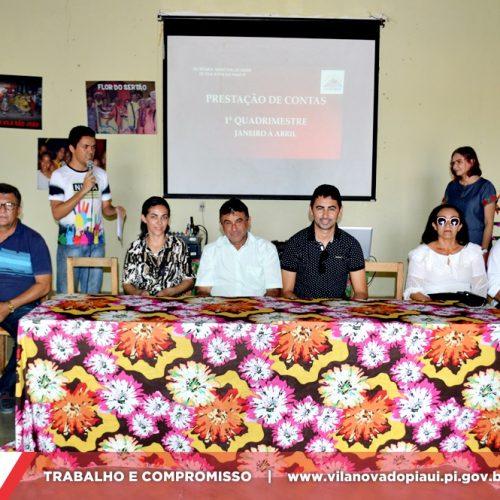 Prefeitura realiza audiência pública de prestação de contas da Saúde de Vila Nova do PI