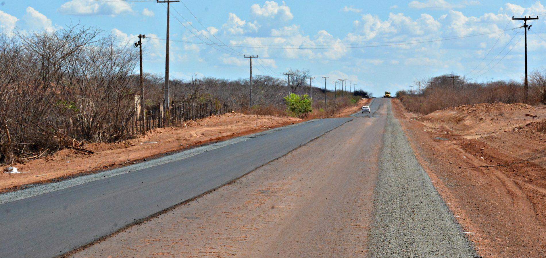 Obras de reconstrução do asfalto entre Itainópolis e Picos são paralisadas. Veja!