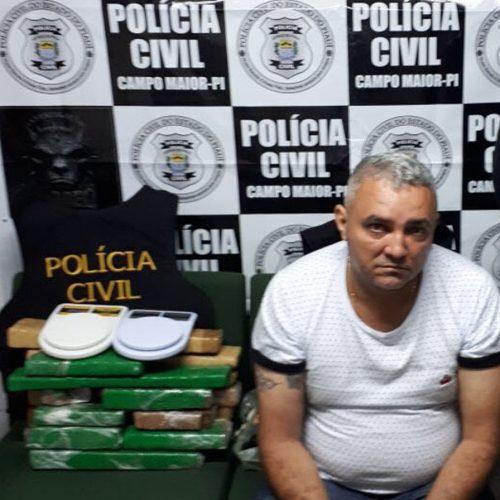 Foragido do Piauí é preso com 14 kg de maconha no Ceará