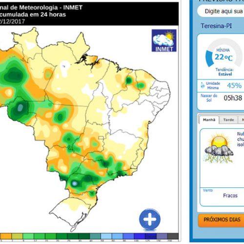 Região Norte do Piauí registrou chuva de até 30 milímetros nesta sexta