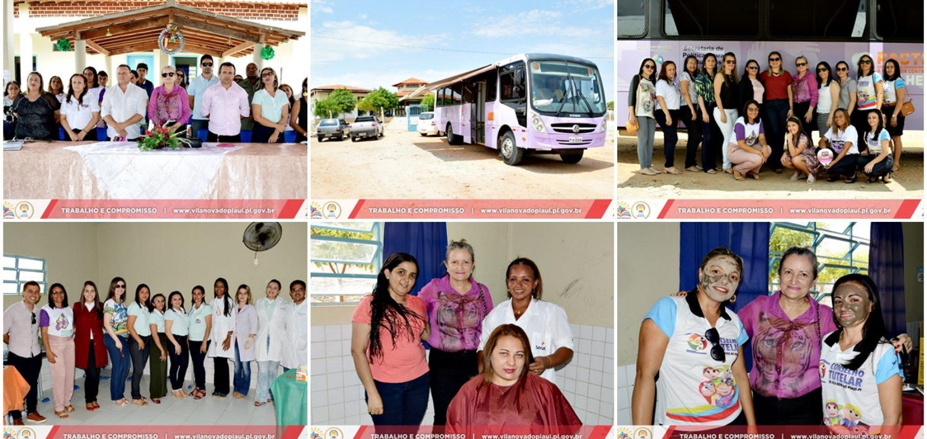 VILA NOVA 22 ANOS | 'Ônibus lilás' oferece atendimento às mulheres no povoado São João Batista. Veja fotos!